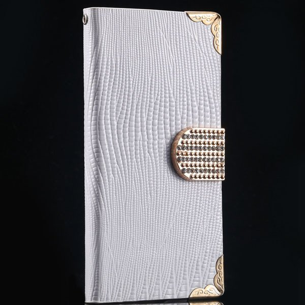 S4 Luxury Bling Diamond Case Full Wallet Book Cover With Shiny Rhi 1999249029-3-white