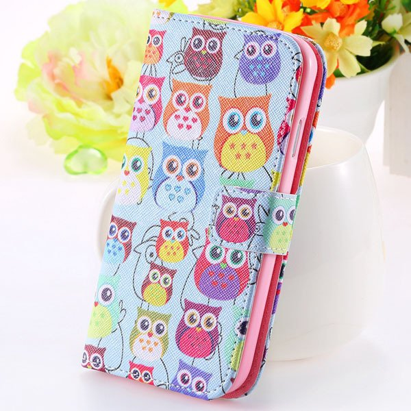 Special Mat Pu Leather Case For Samsung Galaxy S3 Siii I9300 Walle 1925776325-3-many owl