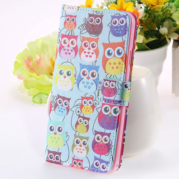 Matte Grain Full Wallet Pu Leather Case For Samsung Galaxy Note 3  1925879807-7-many owls