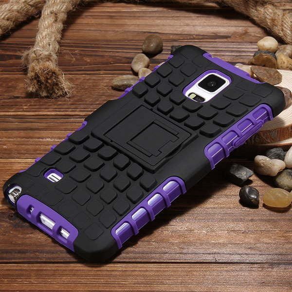 For Note 4 Heavy Duty Case Armor Cover For Samsung Galaxy Note 4 I 32273909003-5-purple