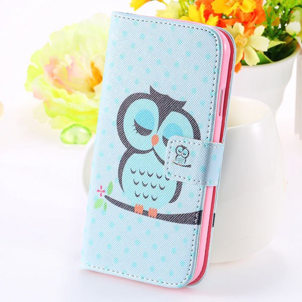 Unique Cultural Print Pattern Full Cover For Samsung Galaxy S3 Sii 32251203024-7-sky blue owl