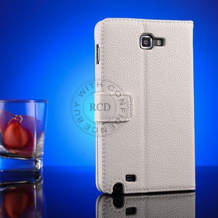 Top Quality Pu Leather Case For Samsung Galaxy Note I9220 N7000 St 1063977847-1-White