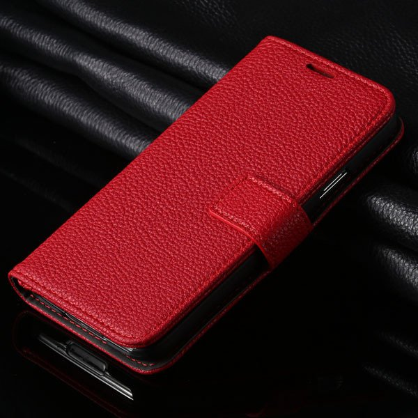 Hot Pu Leather Case For Samsung Galaxy S5 Siv I9600 Flip Cover Lit 1851240878-3-red
