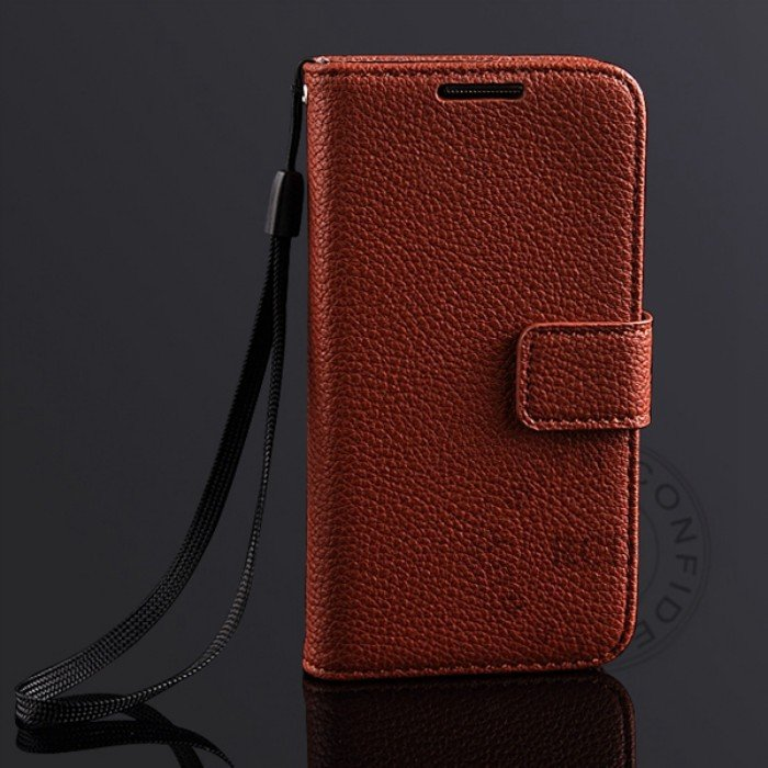 S4 Mini Lychee Pattern Leather Case For Samsung Galaxy S4 Mini I91 1274029657-5-Brown