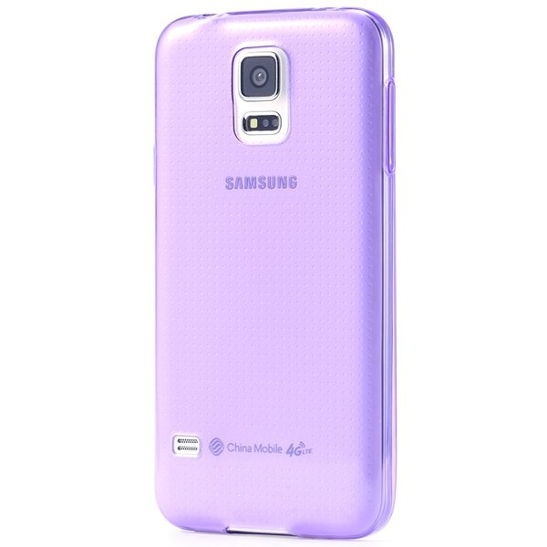 S5 Clear Tpu Case 0.3Mm Soft Rubber Back Cover For Samsung Galaxy  32297857781-5-purple
