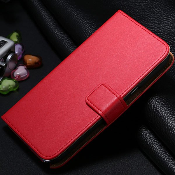 For Note 2 Genuine Leather Case Flip Cover For Samsung Galaxy Note 1772307258-3-red