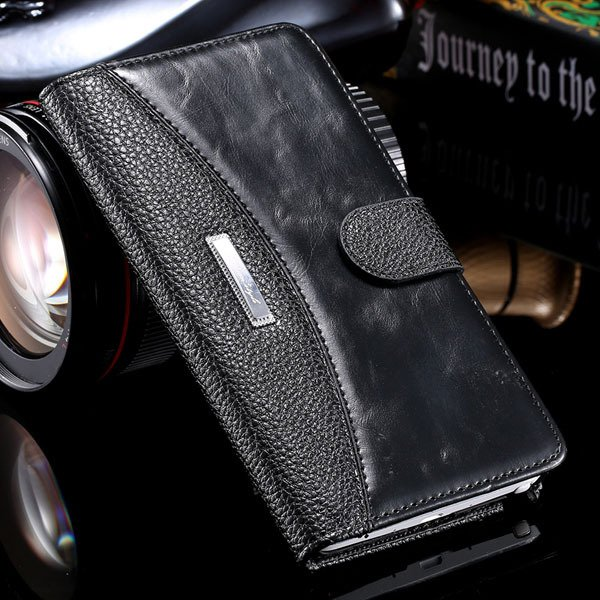 Business Wallet Pouch Bag For Samsung Galaxy Note 4 N9100 Full Lea 32249753668-1-black