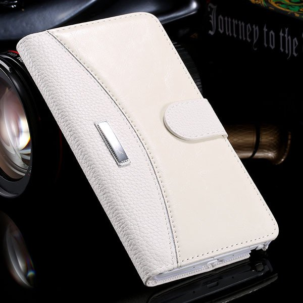 Business Wallet Pouch Bag For Samsung Galaxy Note 4 N9100 Full Lea 32249753668-3-white