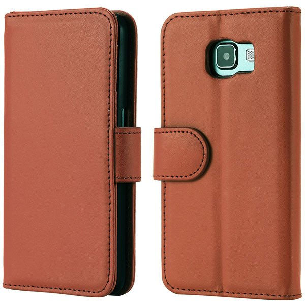 S6 Flip Pu Leather Cover Luxury Full Protect Skin Case For Samsung 32299079566-2-brown