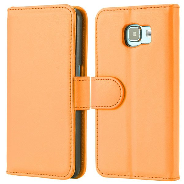 S6 Flip Pu Leather Cover Luxury Full Protect Skin Case For Samsung 32299079566-9-orange