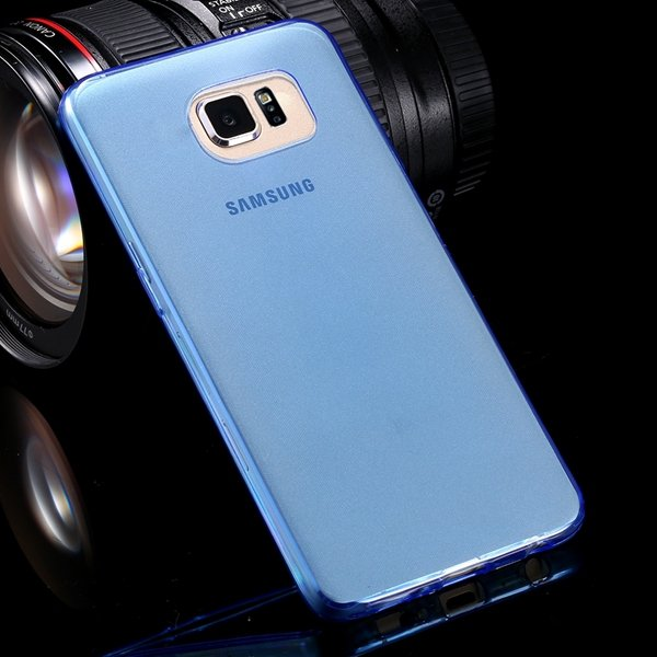 S6 Flexible Tpu Clear Case 0.3Mm Super Thin Back Cover For Samsung 32299284919-2-blue