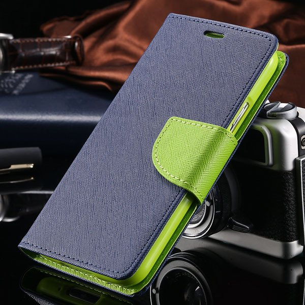 S6 Luxury Pu Leather Case Wallet Book Cover For Samsung Galaxy S6  32301691284-7-deep blue