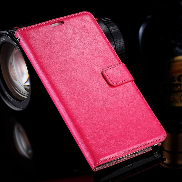 Note 4 Photo Display Flip Case Pu Leather Cover For Samsung Galaxy 32283939907-6-rose