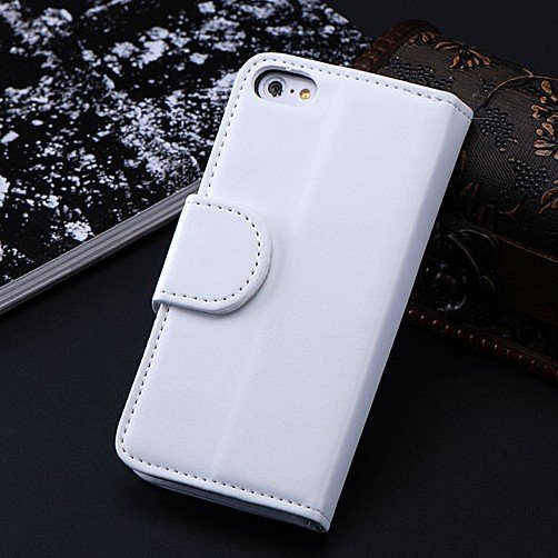 5C Luxury Pu Leather Case Photo Frame Wallet Book Cover For Iphone 1330010949-3-White