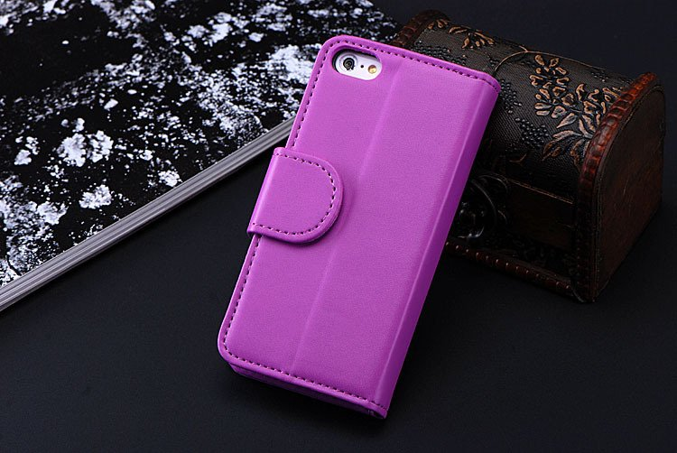 5C Luxury Pu Leather Case Photo Frame Wallet Book Cover For Iphone 1330010949-9-Lavender