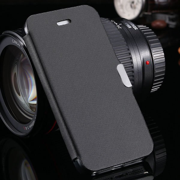 5S Magnetic Wallet Book Case Flip Pu Leather Cover For Iphone 5 5S 1057199030-1-black