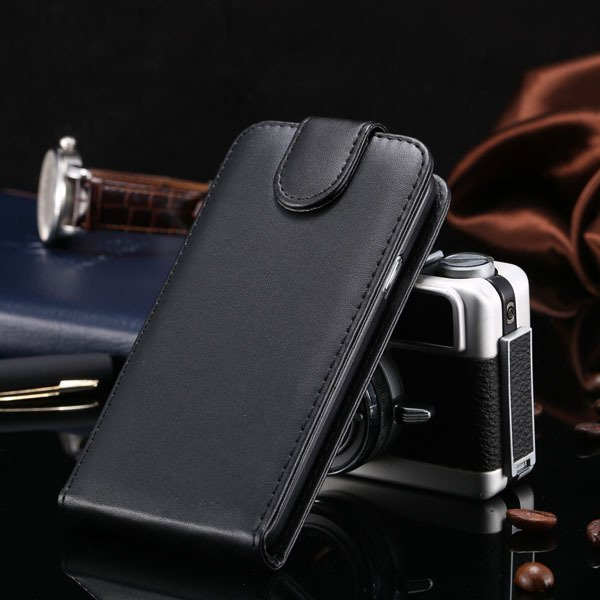 5S Flip Case Pu Leather Cover For Iphone 5 5S 5G Vertical Full Cov 1850210035-1-black