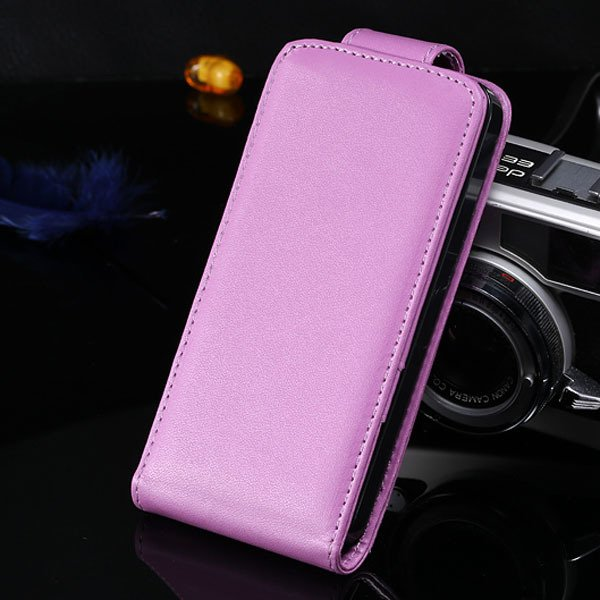 5S Flip Case Pu Leather Cover For Iphone 5 5S 5G Vertical Full Cov 1850210035-8-purple