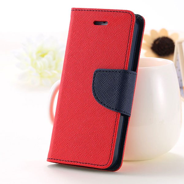 5C Case Wallet Book Style Full Case For Iphone 5C Colorful Flip Pu 1774245439-3-red