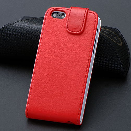 5C Pu Leather Case Flip Phone Cover For Iphone 5C Full Protect Wit 1348779321-3-Red