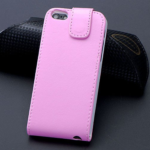 5C Pu Leather Case Flip Phone Cover For Iphone 5C Full Protect Wit 1348779321-4-Pink