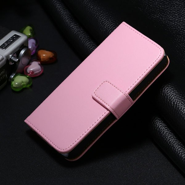 5C Genuine Leather Case For Iphone 5C Flip Wallet Cover Stand Func 1850663553-6-pink