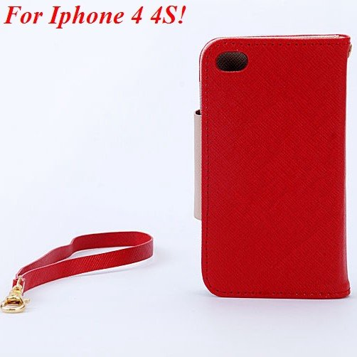 4S 5S Flip Case Wallet Leather Cover For Iphone 4 4S 4G 5 5S 5G Ph 1848716552-10-red for 4S