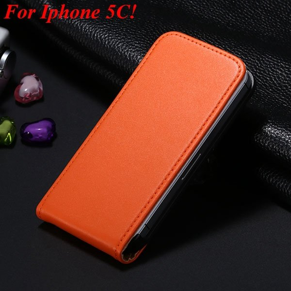 5C Genuine Leather Case Flip Cover For Iphone 5C Vertical Mobile P 1855464865-5-orange for 5C