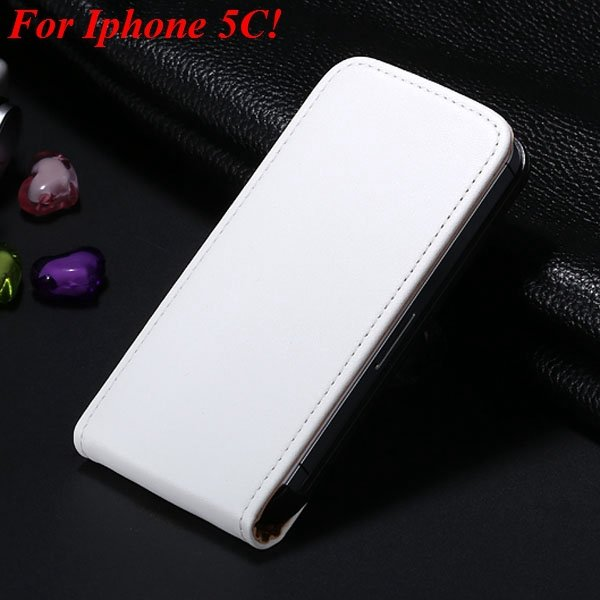 5C Genuine Leather Case Flip Cover For Iphone 5C Vertical Mobile P 1855464865-8-white for 5C