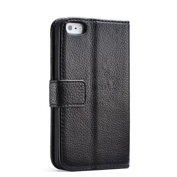 Luxury Wallet Leather Case For Iphone 5 5S 5G Original Cover With  1001913456-1-black