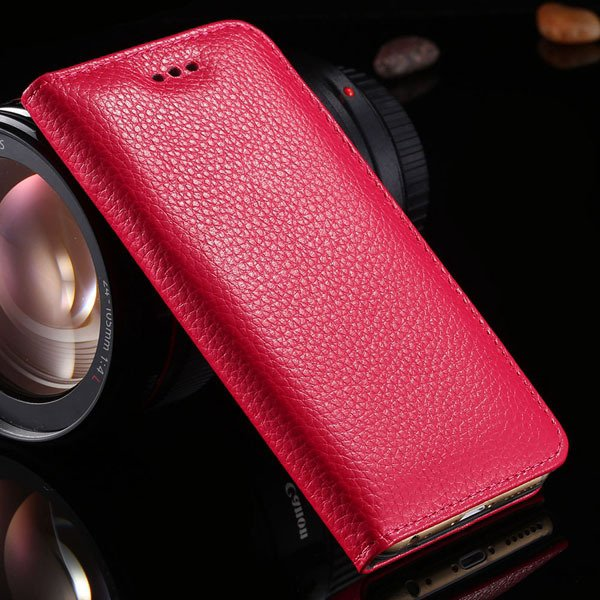 5S Genuine Leather Case For Iphone 5 5S 5G Full Protective Cell Ph 32269665739-6-hot pink