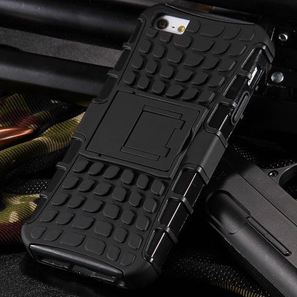 5S Heavy Duty Armor Case For Iphone 5 5S 5G Dual Protect Hybrid Ba 32303987983-1-black