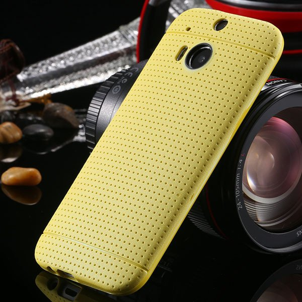 M8 Case Slim Phone Cover For Htc One M8 Back Phone Shell Perfectly 1991600215-2-yellow