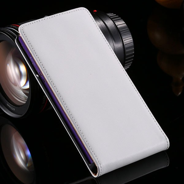 100% Real Full Genuine Leather Case For Sony Xperia Z L36H Flip Ce 32240219105-2-white
