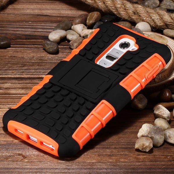 G2 Heavy Duty Armor Case For Lg Optimus G2 D802 D801 Hybrid Back C 32273825574-4-orange