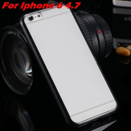 New Arrival Slim Colorful Tpu Clear Case For Iphone 6 4.7'' Phone  2018245815-1-black For Iphone 6