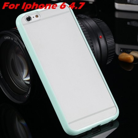 New Arrival Slim Colorful Tpu Clear Case For Iphone 6 4.7'' Phone  2018245815-2-mint For Iphone 6