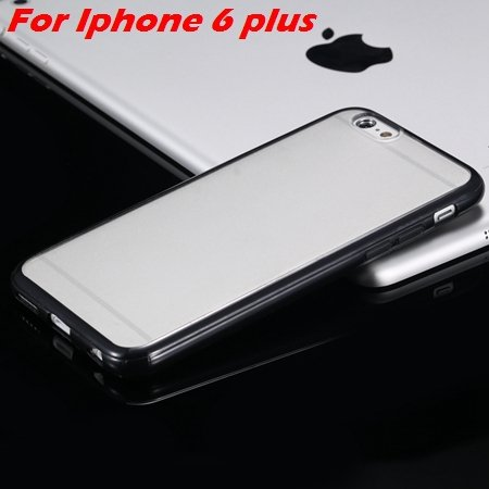 New Arrival Slim Colorful Tpu Clear Case For Iphone 6 4.7'' Phone  2018245815-11-Black For I6 Plus
