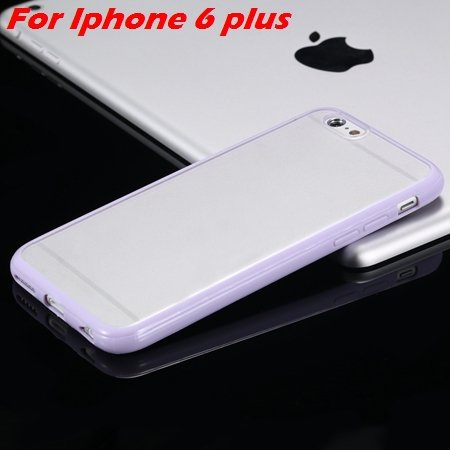 New Arrival Slim Colorful Tpu Clear Case For Iphone 6 4.7'' Phone  2018245815-15-Purple For I6 Plus