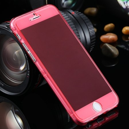 "Ultra Light Transparent Slim Tpu Soft Flip Case For Iphone 6 4.7""""  2032639495-3-Red"