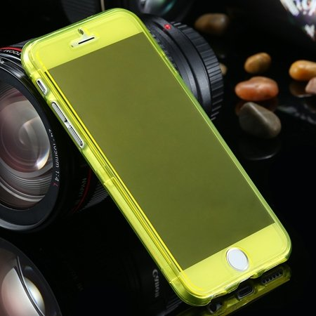 "Ultra Light Transparent Slim Tpu Soft Flip Case For Iphone 6 4.7""""  2032639495-5-Yellow"