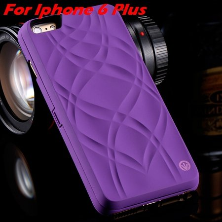 Fashion Lady Necessary 3D Water Flip Pu Leather Case For Iphone 6  32282429199-6-Purple For I6 Plus