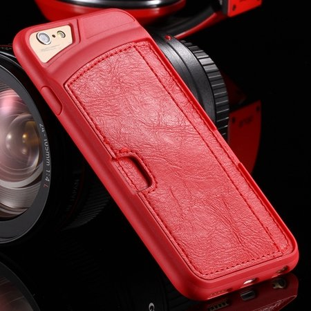 Vintage Luxury Soft Tpu + Pu Leather Case For Iphone 6 4.7Inch Sli 32262191617-3-Red