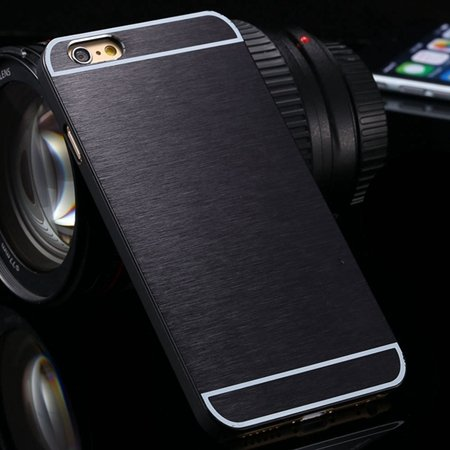 Luxury Brushed Metal Case For Iphone 6 4.7Inch Hard Phone Cases Sl 32226321434-1-Black