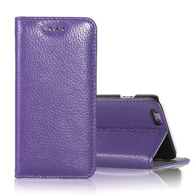"Vintage Elegent Lychee Pattern Pu Leather Case For Iphone 6 4.7"""" F 32259828402-4-Purple"