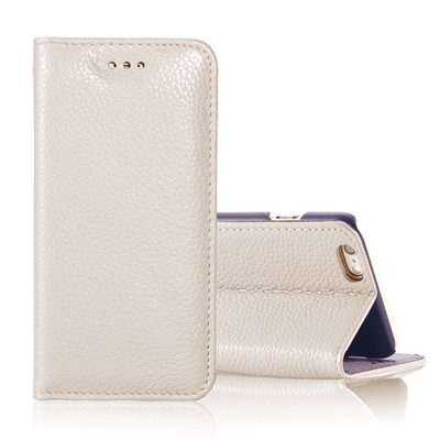 """Vintage Elegent Lychee Pattern Pu Leather Case For Iphone 6 4.7"""""""" F 32259828402-7-Cream"""
