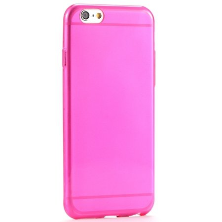 Ultra Thin 0.3Mm Flexible High Clear Tpu Soft Case For Iphone 6 4. 2039105537-7-Hot Pink
