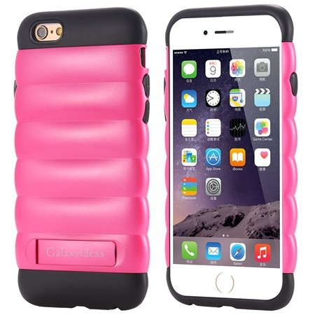 Cute Luxury Pc+ Tpu Hybird Armor Case For Iphone 6 4.7Inch Mobile  32302464039-4-Hot Pink