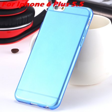 """High Quality Soft Back Cover Shell For Iphone6 4.7"""""""" Ultra Light Cl 32222098041-14-Blue For I6 Plus"""