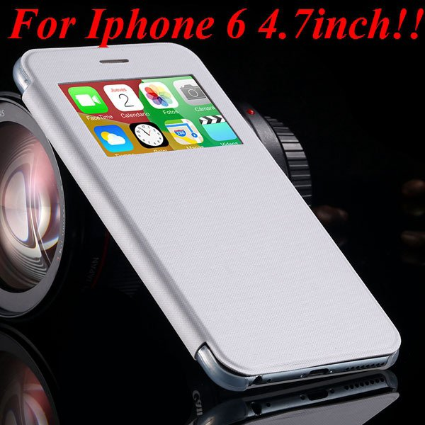 I6 Window View Case For Iphone 6 4.7Inch/5.5Inch Plus Full Wallet  32232345815-2-white for iphone 6